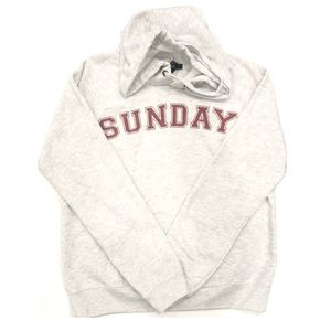 Forever 21 Sunday Gray Graphic Hoodie